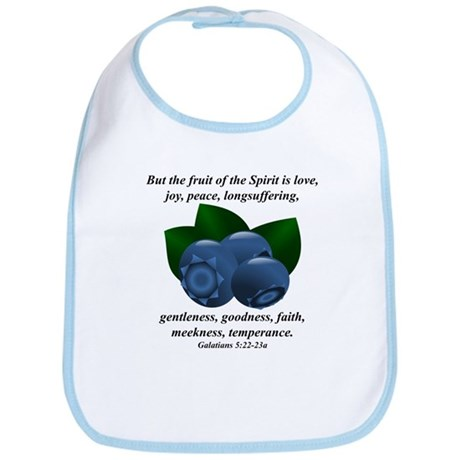 Fruit of the Spirit - Blueberries Bib