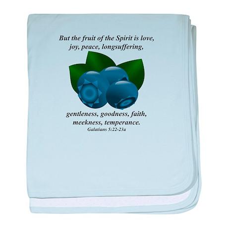 Fruit of the Spirit - Blueberries baby blanket