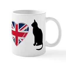 I Heart Cats with Union Jack Heart Mug