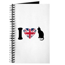 I Heart Cats with Union Jack Heart Journal