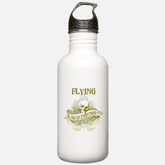 Flying Solves Everything Water Bottle