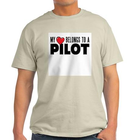 My Heart Belongs to a Pilot Mens Shirt