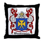 Waskiewicz Coat of Arms Throw Pillow