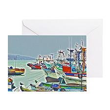 Port of Paracas, Peru Greeting Card