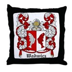 Wadwicz Coat of Arms Throw Pillow