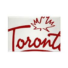 Toronto Leaf Script Rectangle Magnet
