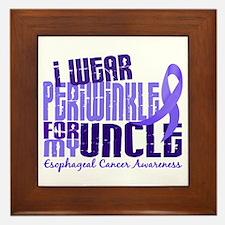 I Wear Periwinkle 6.4 Esophageal Cancer Framed Til