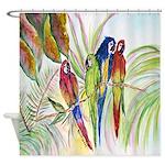 Parrots 10 x 10.png Shower Curtain
