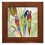 Parrots 10 x 10.png Framed Tile