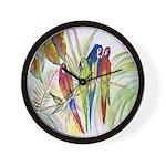 Parrots 10 x 10.png Wall Clock