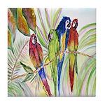 Parrots 10 x 10.png Tile Coaster