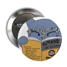 """""""Humans for Dummies"""" 2.25"""" Button"""