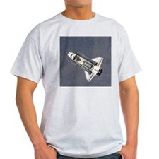 Discovery Cargo Bay Ash Grey Space T-Shirt