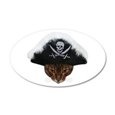 Pirate Bengal Cat Wall Decal