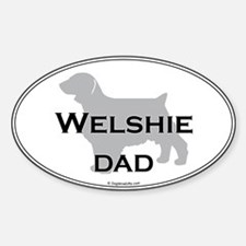Welshie DAD Oval Decal