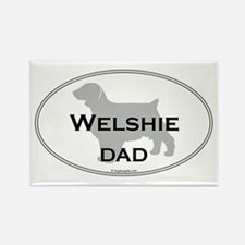 Welshie DAD Rectangle Magnet