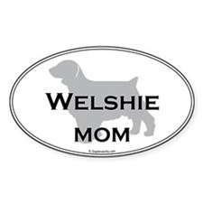 Welshie MOM Oval Decal