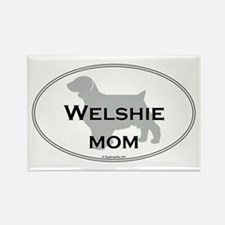 Welshie MOM Rectangle Magnet