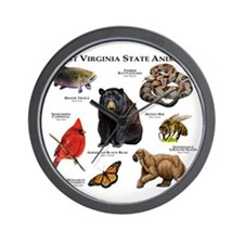 West Virginia State Animals Wall Clock