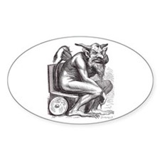 Crappy Devil Oval Decal