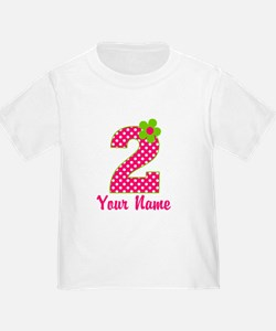 2nd Birthday Pink and Green T