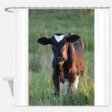 Calf Black Shower Curtain