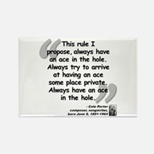 Porter Ace Quote Rectangle Magnet