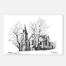 Church Pen & Ink Postcards (8 Pk)