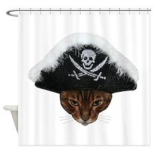 Pirate Bengal Cat Shower Curtain