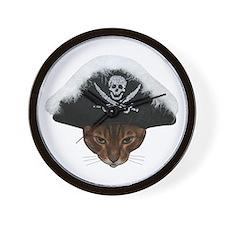 Pirate Bengal Cat Wall Clock