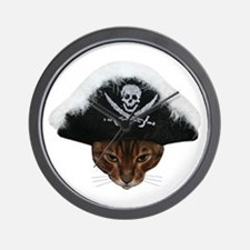 Pirate Bengal Cat Wall Clock