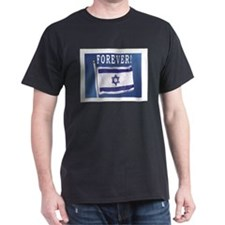 Israel Flag Forever Black T-Shirt