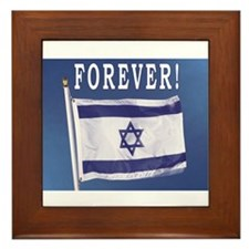 Israel Flag Forever Framed Tile