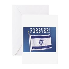 Israel Flag Forever Greeting Cards (Pk of 10)