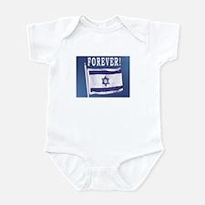 Israel Flag Forever Infant Creeper