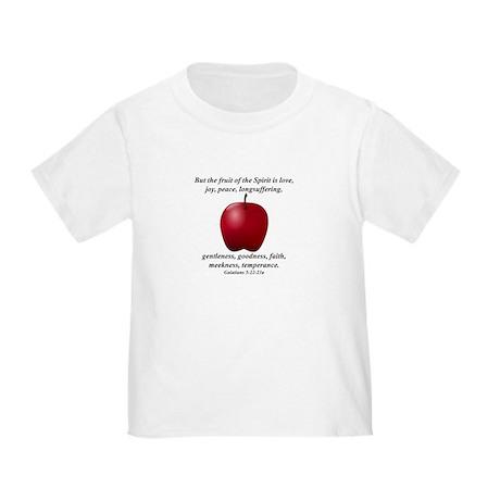 Fruit of the Spirit - Apple Toddler T-Shirt