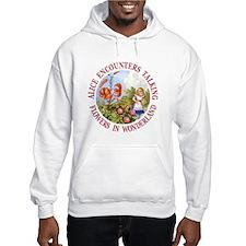 Alice Encounters Talking Flowers Hoodie Sweatshirt