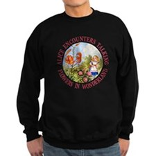 Alice Encounters Talking Flowers Sweatshirt