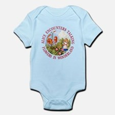 Alice Encounters Talking Flowers Infant Bodysuit