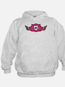 Hot Pink Soccer Logo Hoodie