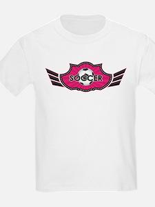 Hot Pink Soccer Logo T-Shirt