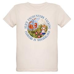 Alice Encounters Talking Flowers T-Shirt
