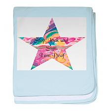 Stop, Look Sign, Star baby blanket