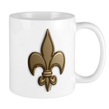 Gold Fleur De Lis Mug
