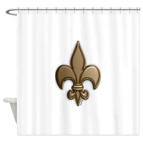 Gold Fleur De Lis Shower Curtain By Voodoots