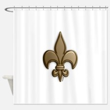 Gold Fleur De Lis Shower Curtain