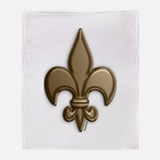 Gold Fleur De Lis Throw Blanket