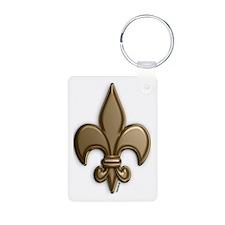 Gold Fleur De Lis Keychains