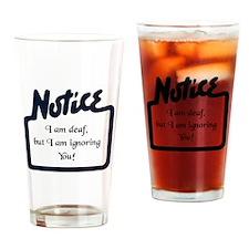 Notice Drinking Glass