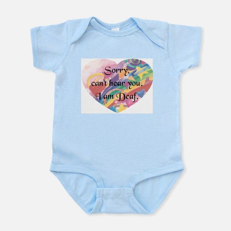 Sorry Cant Hear U-hrt Infant Bodysuit